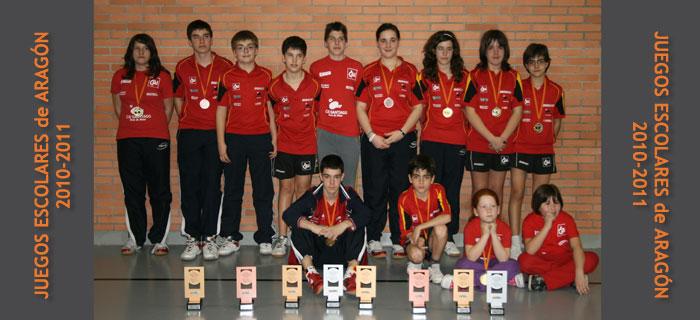 CAI Santiago Tenis de Mesa Juegos Escolares Aragon 2010-2011