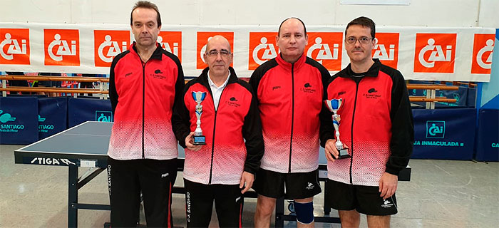 Nuestros veteranos, segundos y terceros en el Campeonato de Aragón