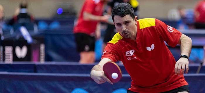 Jorge Cardona disputa el ITTF Costa Brava Spanish Para Open 2020