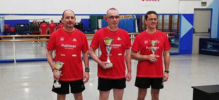 Podio del Publimax en el Campeonato de Aragón de Veteranos +50